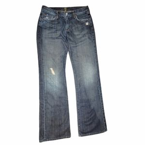 7 For All Mankind Midrise Bootcut Jeans Dark Wash